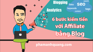 kiếm tiền với affiliate marketing bằng blog