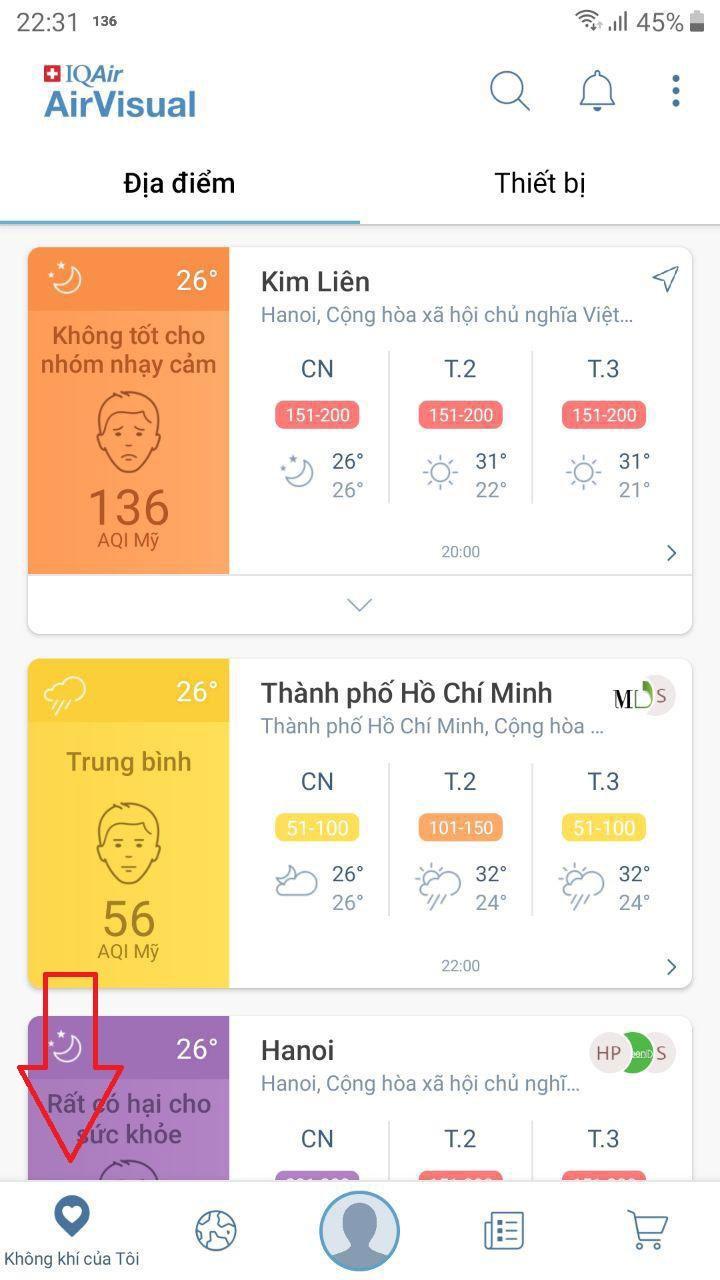 AirVisual: App kiểm tra mức độ ô nhiễm không khí bạn cần cài ngay